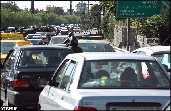 عکس از ترافیک تهران