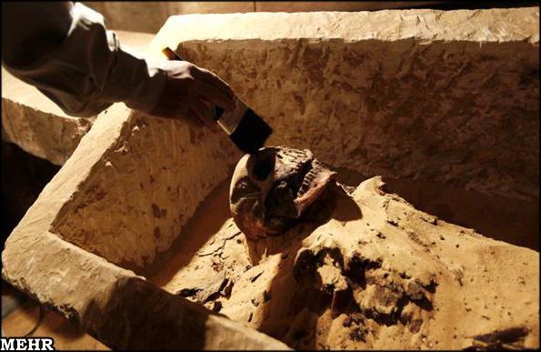 مومیایی 2600 ساله در مصر(عکس)