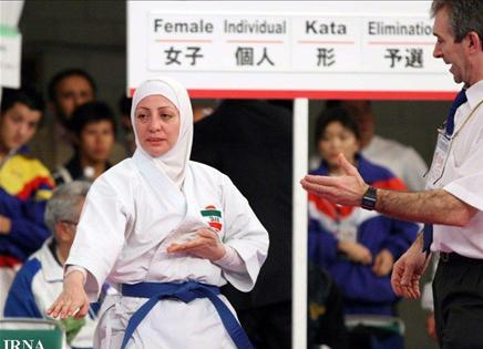 هلن سپاسی بانوی محجبه کاراته کار ایرانی