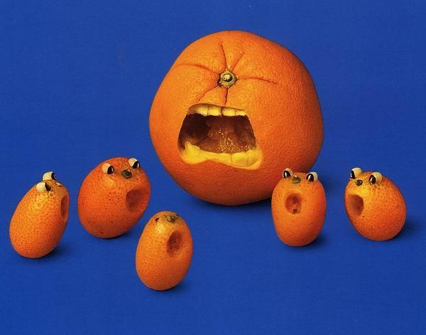 ابتکارات هنری با میوه ها