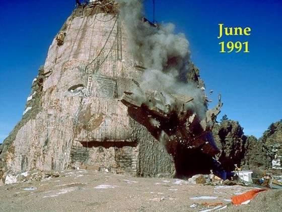 حاصل جدال یک مجسمه ساز با کوه سنگی (تصویری)