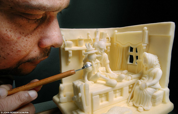 مجسمه های پنیری (عکس)