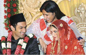 ازدواج قهرمانان ورزشی پاکستان و هند (عکس)