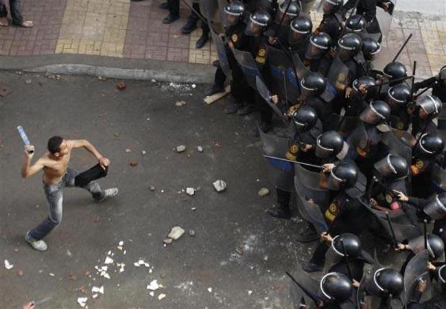 درگيري مسيحيان قبطي مصر با پليس اسكندريه