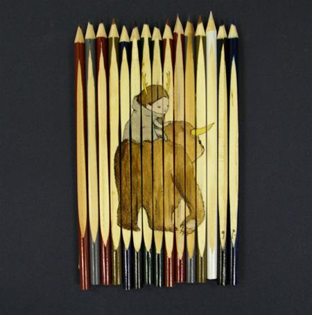نقاشی با مداد رنگی روی مدادرنگی! (عکس) www.TAFRIHI.com