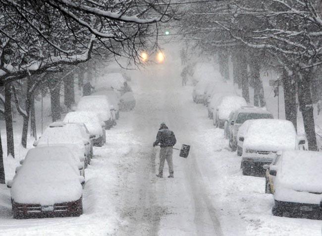 بارش برف شديد در نيويورك