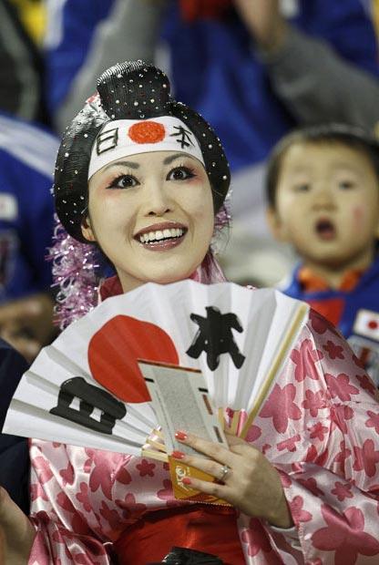 یک هوادار فوتبال ژاپنی