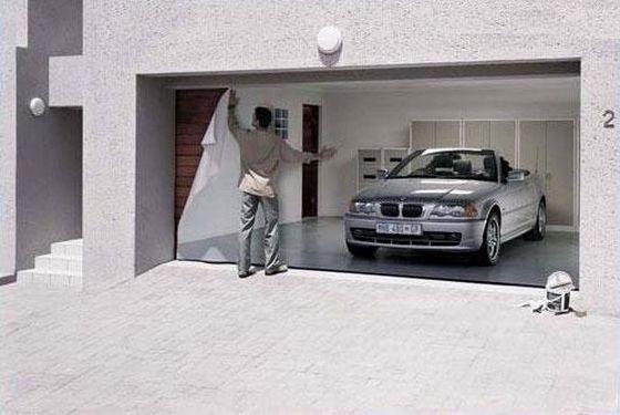 طراحی جالب برای درب پارکینگ ها