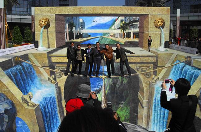 بزرگ ترين نقاشي سه بعدي جهان