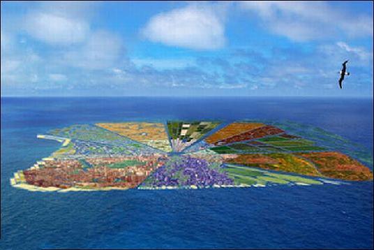 ساخت جزیره از 44 میلیون کیلو زباله با گنجایش 5میلیون نفر!! (+عکس)