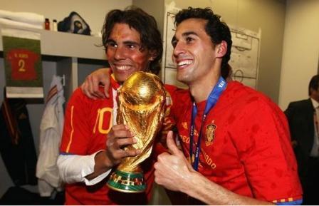 رختکن تیم ملی اسپانیا بعد از تصاحب جام جهانی(عکس)