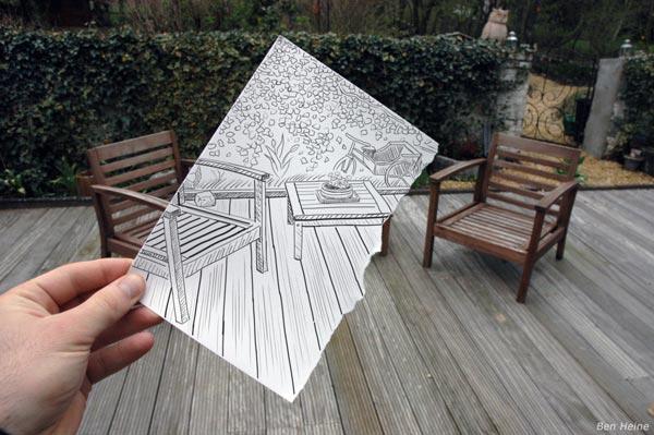 طراحی نمای ساختمان با مداد
