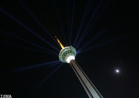 عکس جالب از برج میلاد