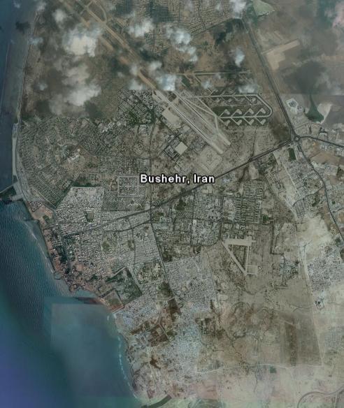 تصاویر ماهواره ای از استان بوشهر