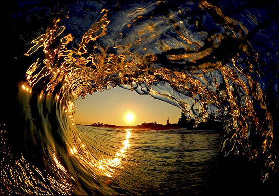 عکس هایی از موج های دریا امواج زیبا
