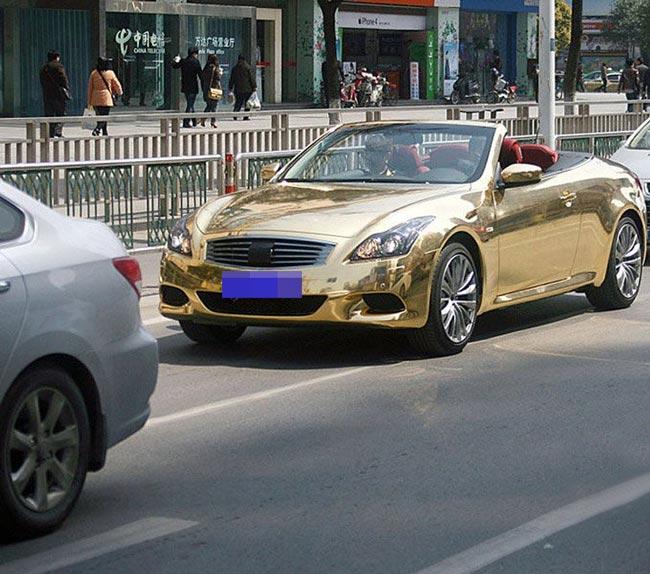 عکسهای ماشین طلایی در چین