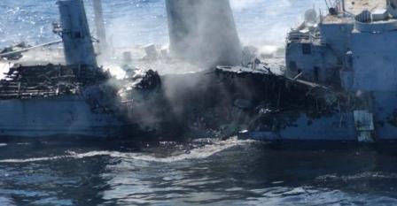 کشتی بعد از حمله