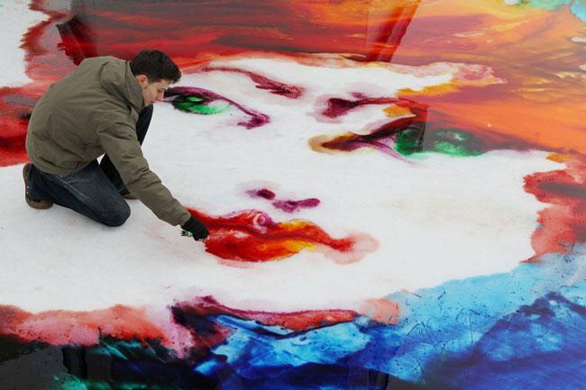 نقاشی روی یخ