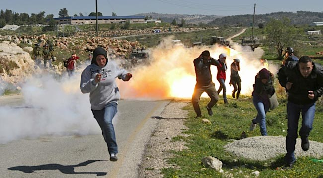 معترضان فسطینی