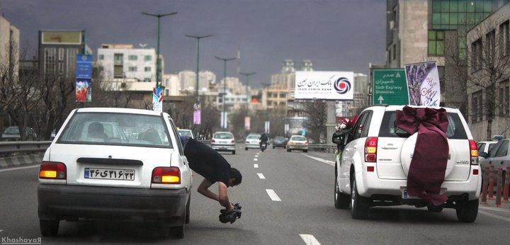فیلمبرداری خطرناک از ماشین عروس+عکس | www.ak3fa.ir