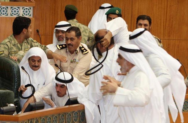درگیری در پارلمان کویت