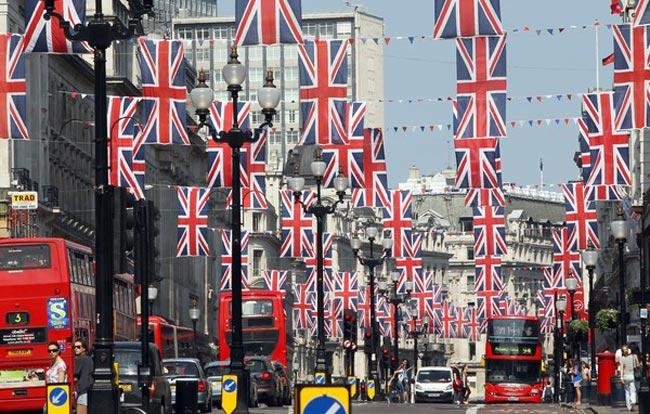 آذین بندی خیابان های لندن