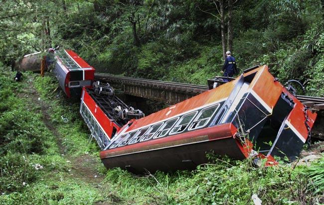سانحه قطار در تايوان