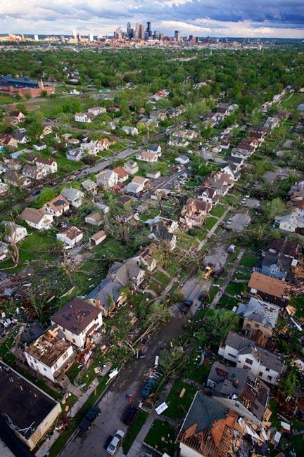 طوفان در مینیا پولیس آمریکا
