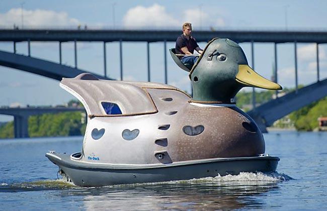 قایق های موتوری به شكل اردك