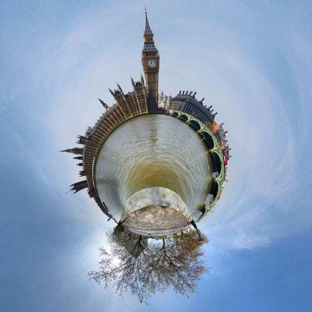 مكان هاي مشهور شهر لندن روي مدار 360 درجه
