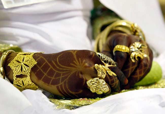 دستان حنازده یک عروس