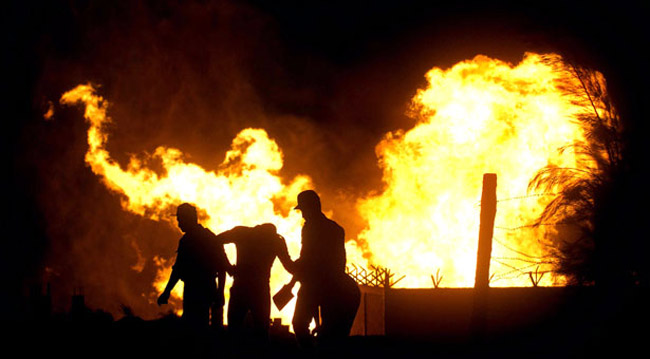 انفجار در خط لوله انتقال گاز