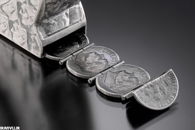 سکه های فلزی،کارمند بانک سینا