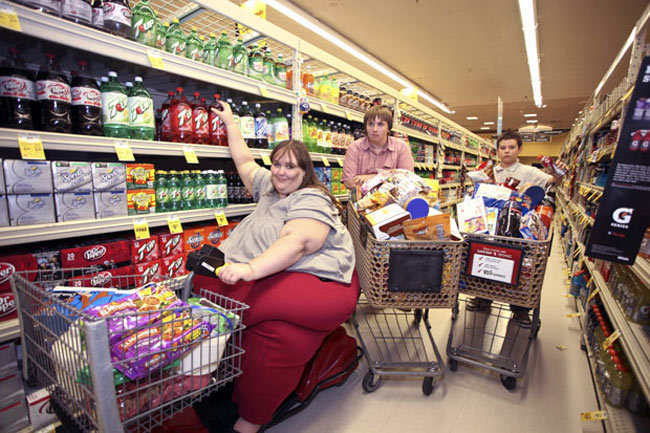 زن چاق آمريكايي