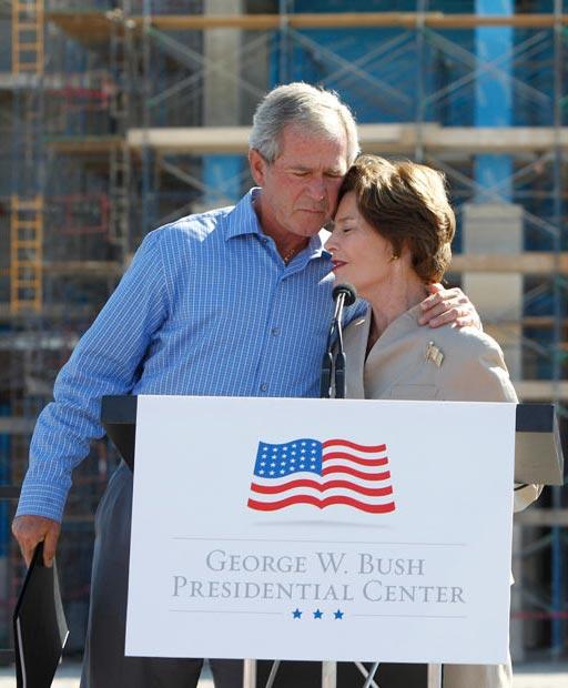 جورج بوش و همسرش