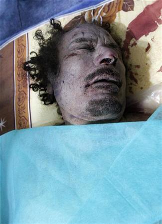جنازه قذافی