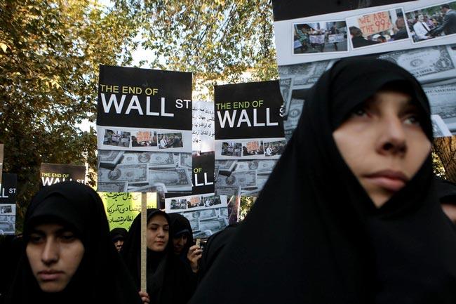 دانشجویان ایرانی مقابل سفارت سوییس