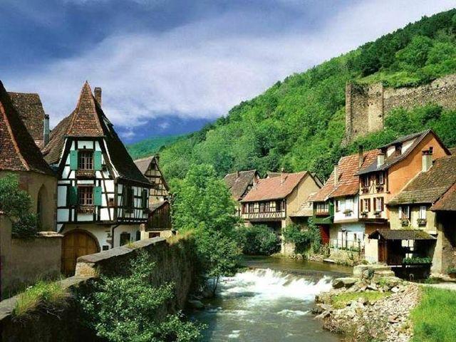 تصاویری از روستای معروف به بهشت، این روستا در فرانسه است