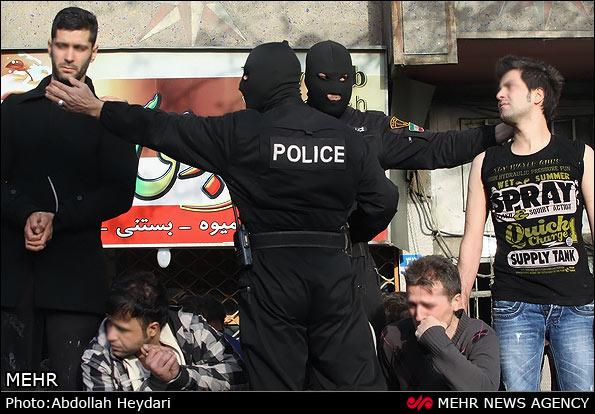 تصاویر دستگیری 173تن از اراذل و اوباش و زورگیران پایتخت