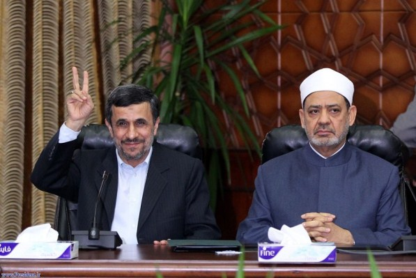 احمدی نژاد و شیخ الازهر