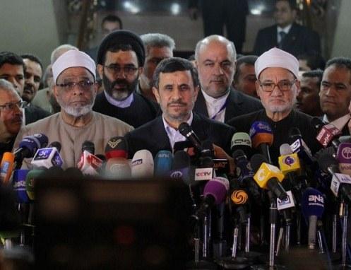 کنفرانس احمدی نژاد با مشاور شیخ الازهر