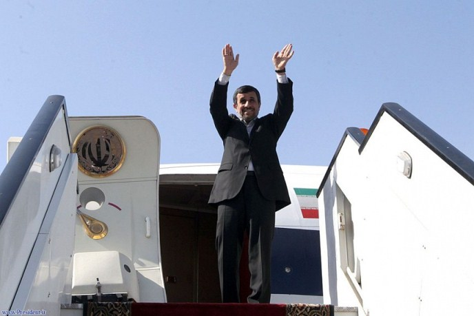 احمدی نژاد در قاهره