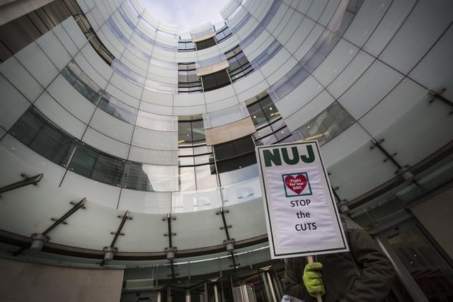 اعتصاب کارمندان شبکه خبری بی بی سی در لندن