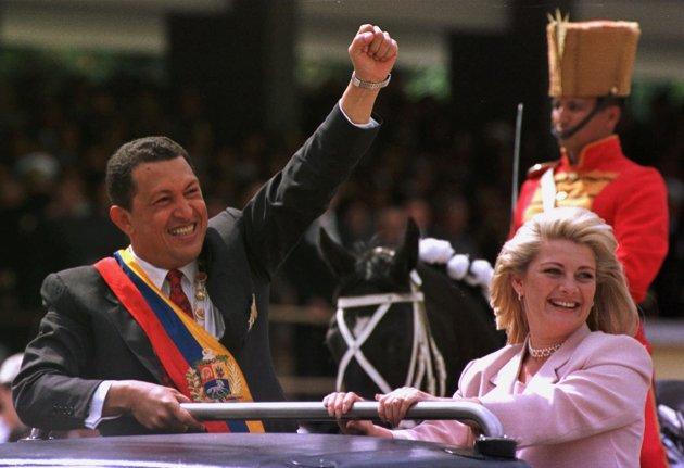 چاوز و همسر دومش / عکس