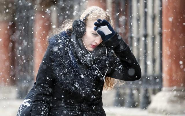بارش برف در لندن