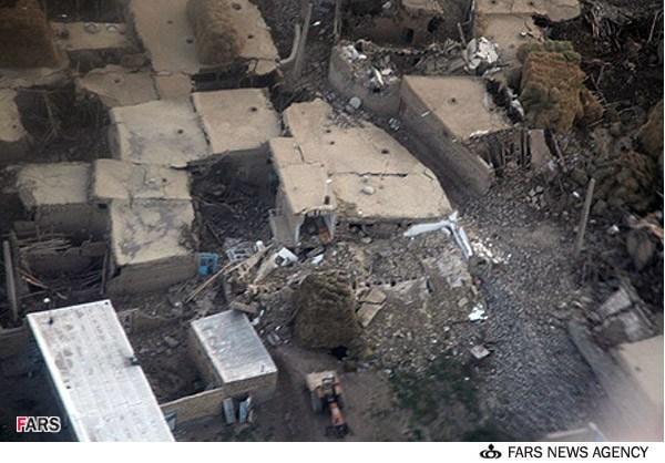 زلزله - عکس هوایی