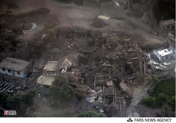 عکس هوایی زلزله