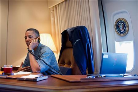 دفتر کار اوباما در هواپیمایش