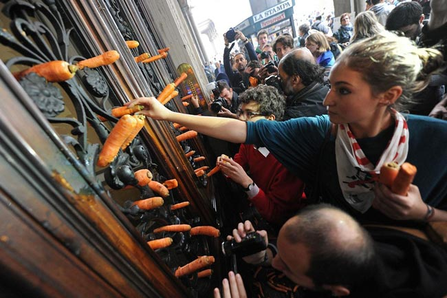 تظاهرات دانشجویان ایتالیایی