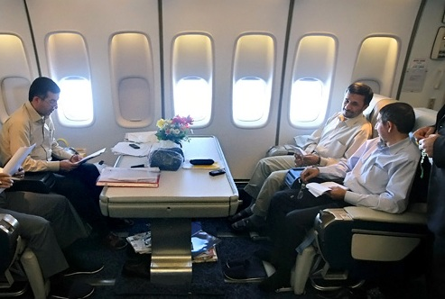 احمدی نژاد در راه نیویورک
